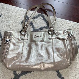 Gold Metallic Coach Bag